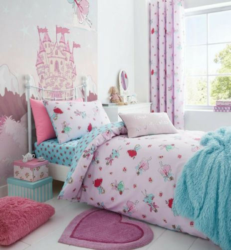 Catherine Lansfield Fairies Pink Bedding Set